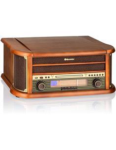 ROADSTAR Tocadisco Madera HIF-1993BT Con CD/Cassete/Usb/Bluetooth