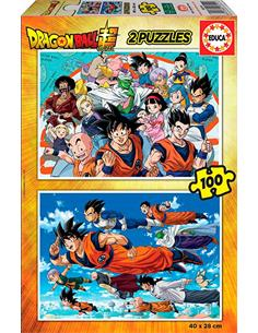 EDUCA 2 Puzzles Dragon Ball Super 2x100 Piezas 18214