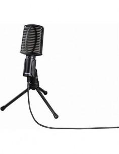 HAMA Microfono Para PC Retro Con Tripode Por usb Negro MIC-USB-ALLROUND