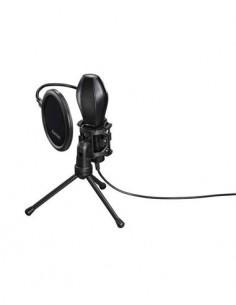 HAMA Microfono Para PC Usb Con Cable MIC-USB-STREAM Con Tripode