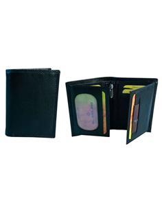 EL MOLINO Cartera RFID para Tarjetas y Monedero Con Cremallera Piel Negra 6013