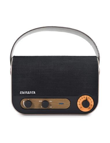 AIWA Radio y Altavoz Portatil Bluetooth RBTU-600 Vintage Usb,Aux In,Manos Libres,2X 5W