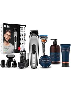 BRAUN Trimming MGK7220 10 en 1 Barba,Pelo y Cuerpo Recargable Lavable