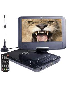 "NEVIR Reproductor DVD Portatil 9"" Con TDT-HD, Usb, Altavoces 2W, Lector SD"