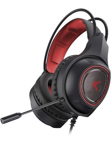 KSIX Micro Auricular de Casco Estereo Gaming Para Playstation 4/Xbox One/Win/Mac DRAKKAR Con Cable