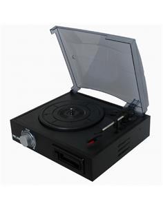 PRIXTON Tocadiscos Con Convertidor De Vinilos y Cassete Mp3 VC300