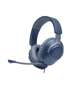 JBL Micro Auricular Casco Gaming Para PC,PS4,Xbox One,Switch QUANTUM 100 Azul Con Cable,Jack 3.5m