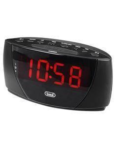 TREVI Despertador Pantalla Grande Negro EC885