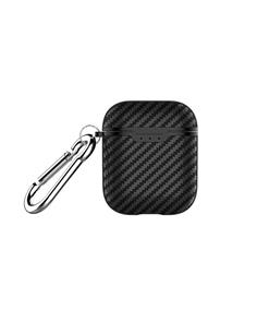 DEVIA Funda Estuche Para Apple Airpods 1/2 Negro Carbono