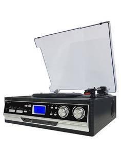 SUNSTECH Tocadisco PXR22 Con Radio AM/FM,Digitalizador,Usb, Aux In Negro