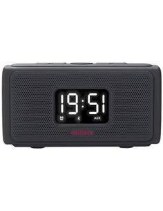 AIWA Reloj Despertador Con Bluetooth/Aux In/Pendrive/Lector Micro Sd CRU-80BT Negro