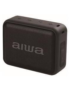 AIWA Altavoz Bluetooth 6W Radio FM,Lector Pendrive BS-200BK Negro