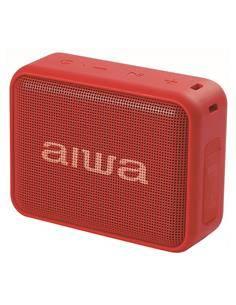 AIWA Altavoz Bluetooth 6W Radio FM,Lector Pendrive BS-200RD Rojo