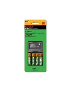 KODAK Cargador para Baterias AA/AAA NiMh 620 + 4 Baterias AA 2100mAh