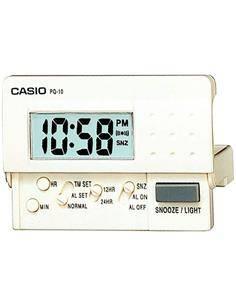 CASIO Reloj Despertador Mini Modelo PQ-10 Blanco