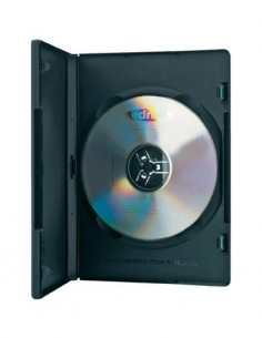 EDNET 64046 Pack de 10 Estuche CD, DVD Simple Negra Gruesa. (Sin CD)