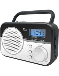 SYTECH Radio Portatil Digital AM/FM SY-1659 Plata Usb,Micro Sd,Aux in