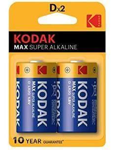 KODAK Pack de 2 Pilas Alkalinas LR20 1.5V