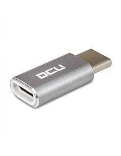 DCU Adaptador Usb Tipo-C/M A Micro Usb/H Gris 30402025