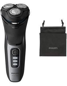 PHILIPS Afeitadora de Barba SHAVER 3000 S3231 5D, Recargable Con Cortapatilla Desplegable,Seco Mojad