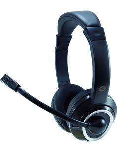 CONCEPTRONIC Micro Auricular de Casco Con Cable POLONA Para PC VOIP,Usb Negro POLONA01B