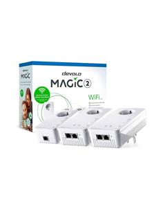 DEVOLO Kit 3 PLC MAGIC 2 Wifi Next Hasta 2400Mbps Multiroom Kit Con Enchufe Incorporado 8631