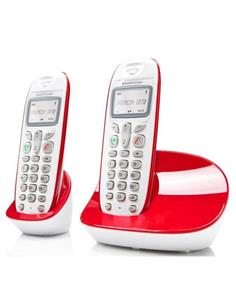SAGEMCOM Telefono Inalambrico Duo D270 Blanco Rojo
