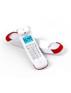 ALCATEL Telefono Inalambrico Con Pantalla Dect Smile Rojo/Blanco