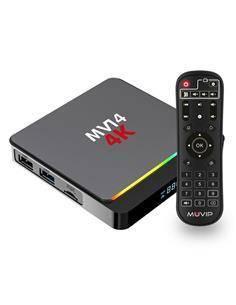 MUVIP Mini PC Smart TV Box MV14 4K,WIFI, Android v10,Quad Core,32Gb+ 4Gb Ram MV0287
