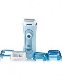 BRAUN Afeitadora Femenina LS5160 3 Accesorios Piernas/Cuerpo/Seco/Mojado