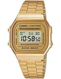 CASIO COLECCION A168WG-9EF Reloj Digital Acero Inoxidable Dorado, Fecha, Alarma, Resistente al Agua