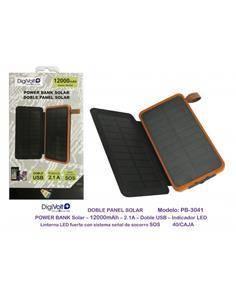 DIGIVOLT Bateria Externa Solar 12000Mah 2xUsb PB-3041