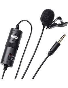 BOYA Microfono Condensador de Solapa DBY-M1 Omni Direccional Para Smartphones Jack 3.5mm 4 Pin