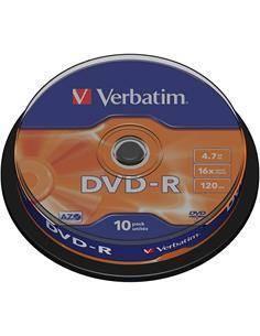 VERBATIM Lata 10 Pcs DVD-R 16x 4.7Gb