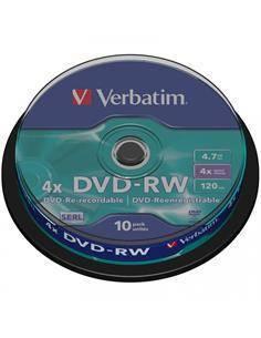 VERBATIM Lata 10 Pcs DVD-RW 4x 4.7Gb
