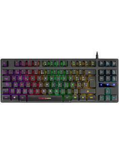 MARS GAMING Teclado Compacto Gaming MKTKL Con Botones Iluminados RGB