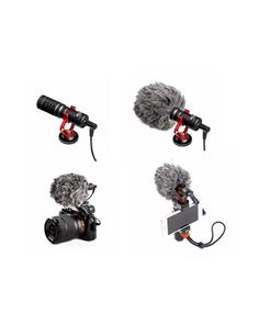 BOYA Microfono Condensador Compacto BYMM1 Telefonos,Dsrl camaras,Grabadoras 3.5mm TRS Y TRRS(Movil)