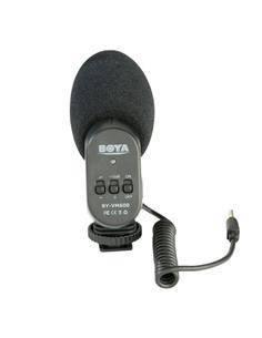 BOYA Microfono Condensador Direccional Para Camara VM600 3.5mm