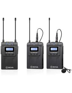 BOYA Kit Microfono UHF Inalambrico 2 Transmisor/Receptor Con Micro De Solapa BY-WM8 Pro-K2