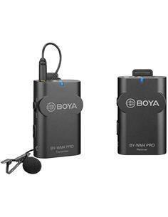BOYA Kit Microfono Inalambrico Transmisor/Receptor Con Micro De Solapa BY-WM4 Pro