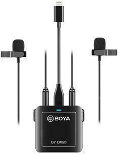 BOYA Kit De Microfono De Grabacion Dual Con Lightning Apple, Tipo C