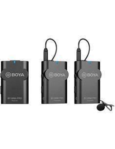 BOYA Kit Microfono Inalambrico 2 Transmisor/Receptor Con Micro De Solapa BY-WM4 Pro-K2