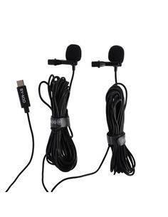 BOYA Microfono Dual Solapa Lavalier Tipo C BY-M3D