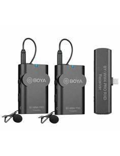 BOYA Microfono Inalambrico Para IOS Apple 2 Transmisor/Receptor Con Micro De Solapa BY-WM4 Pro-K4