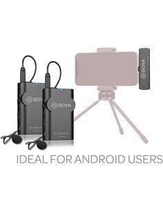 BOYA Microfono Inalambrico Android Tipo C 2 Transmisor/Receptor Con Micro De Solapa BY-WM4 Pro-K6