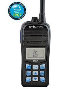 JOPIX Emisora Portatil Marino MARINE 515P Sumergible IP67, 70 Canales, 1-5W