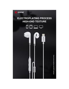 COMMA Auricular De Cable Con Microfono  MFi Para Iphone Con Toma Lightning Blanco EM029