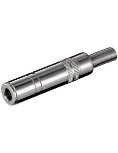 Clavija Jack 6.3mm/Hembra Mono Metal de Soldar Con697