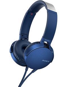 SONY Auricular De Casco Con Microfono MDR-XB550AP Azul