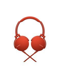 SONY Auricular De Casco Con Microfono MDR-XB550AP Rojo